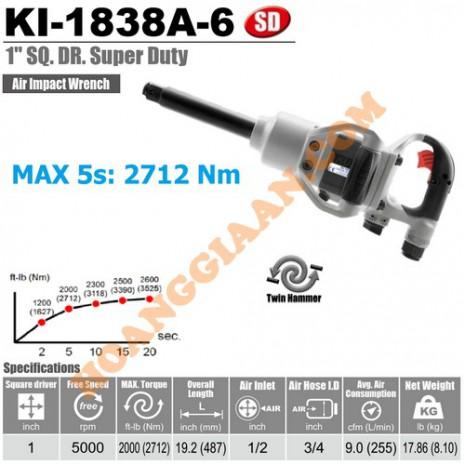 """Máy mở bu lông 1"""" Kuani KI-1838A-6"""