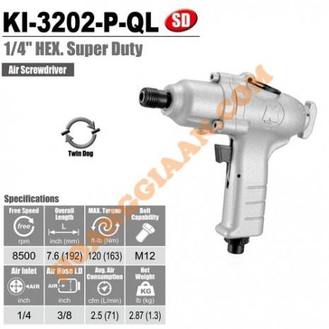 """Máy bắn vít hơi 1/4"""" Kuani KI-3202-P-QL"""