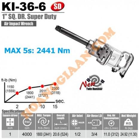 """Máy mở bu lông 1"""" Kuani KI-36-6"""