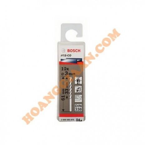 Mũi khoan inox HSS-CO 3mm 10pcs Bosch 2 608 585 876