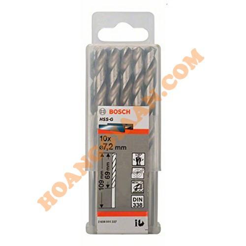 Mũi khoan sắt 7.2mm HSS-G Bosch 2 608 595 337